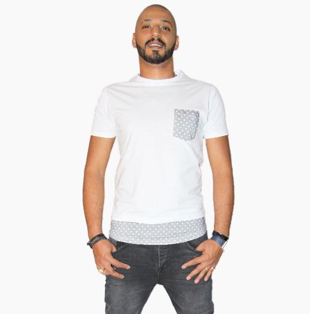 Mens Curve Hem T-shirt