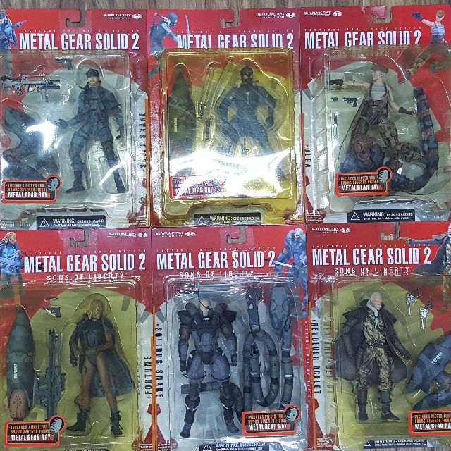 Metal Gear Solid 2 Action Figure - Complete Set, Toys