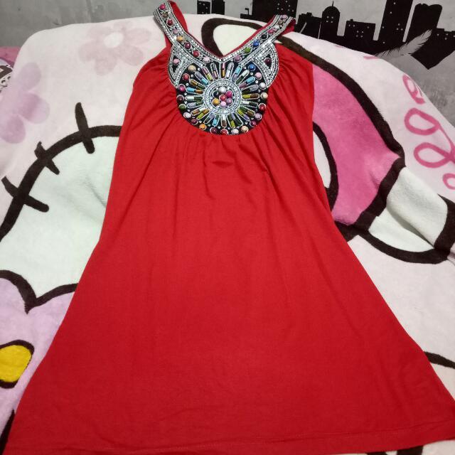 Mini Dress / Tanktop Merah Cabe