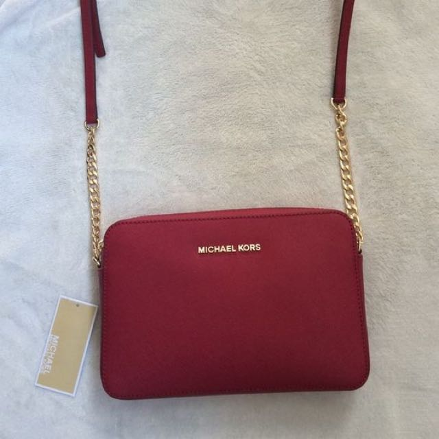 MK Large Saffiano Leather Crossbody Bag