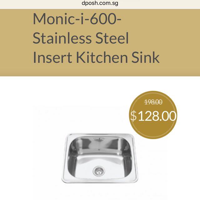 Monic I 600 Stainless Steel Insert Kitchen Sink Home Appliances On