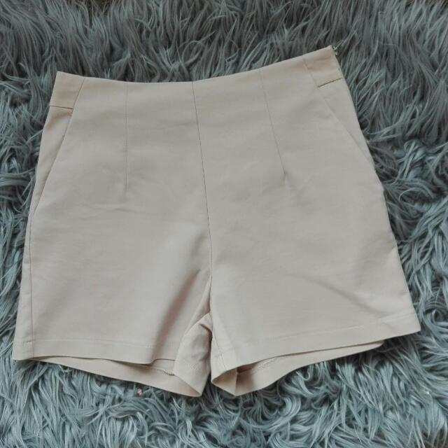 Nude High Waisted Shorts