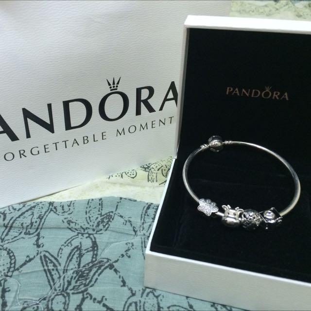 Pandora限量蝴蝶結硬環串飾組