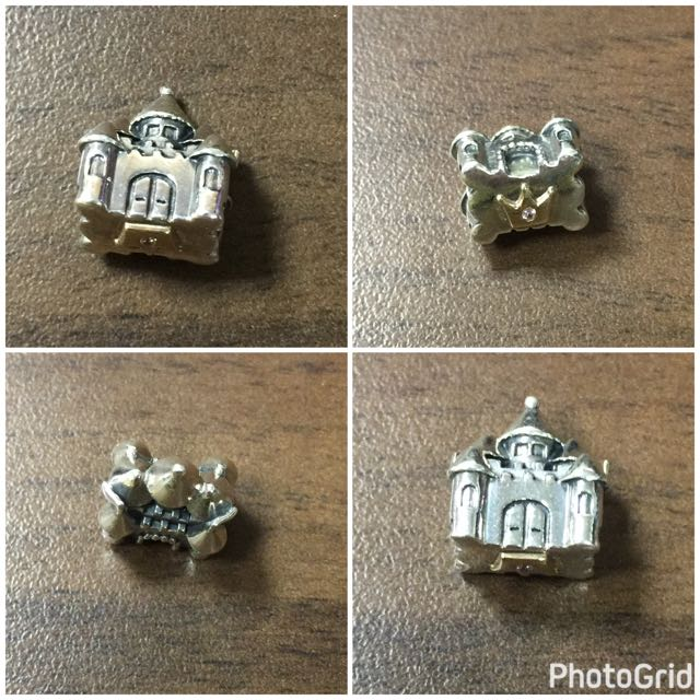 Pandora Castle Crown Charm 城堡 家 金 鑽 皇冠