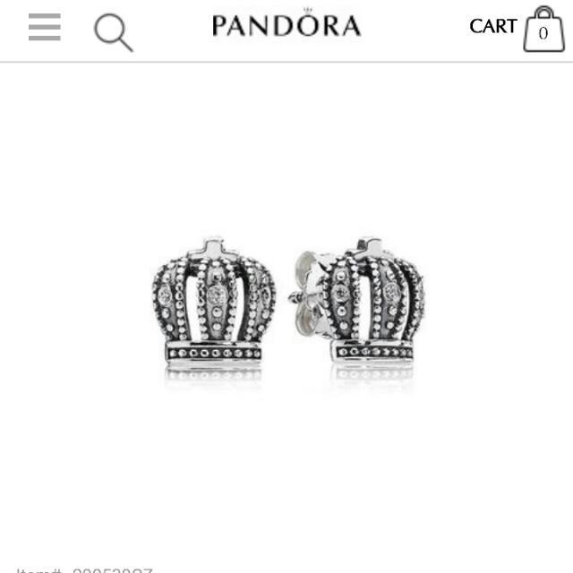 Pandora Royal Crown Earrings