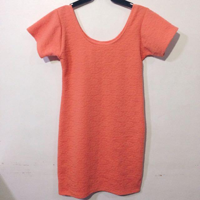 Peach Bodycon Dress