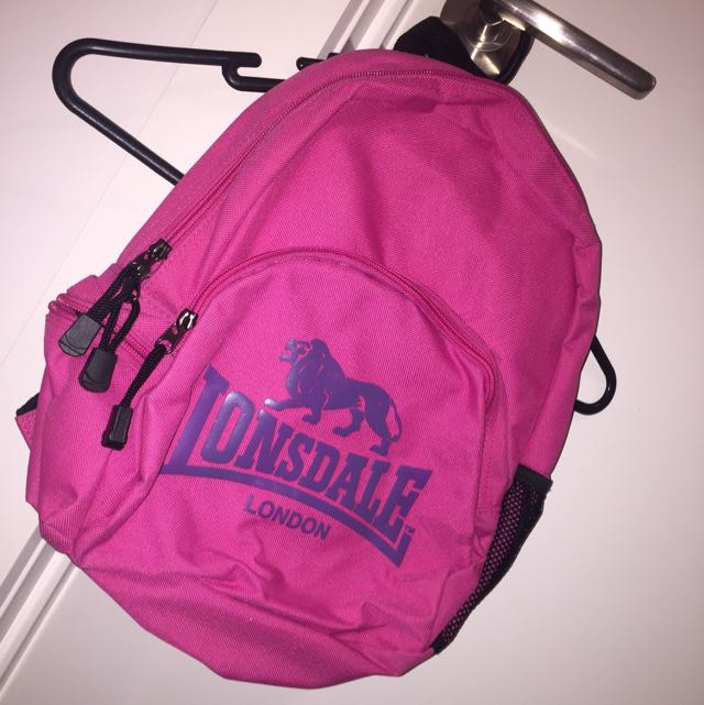 Pink Mini Lonsdale BackPack