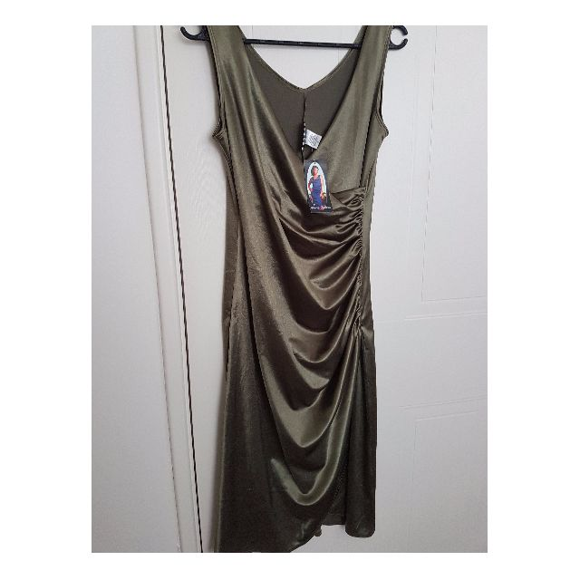 Pinup Couture - Olive Green Wiggle Dress - BNWT - Size XL