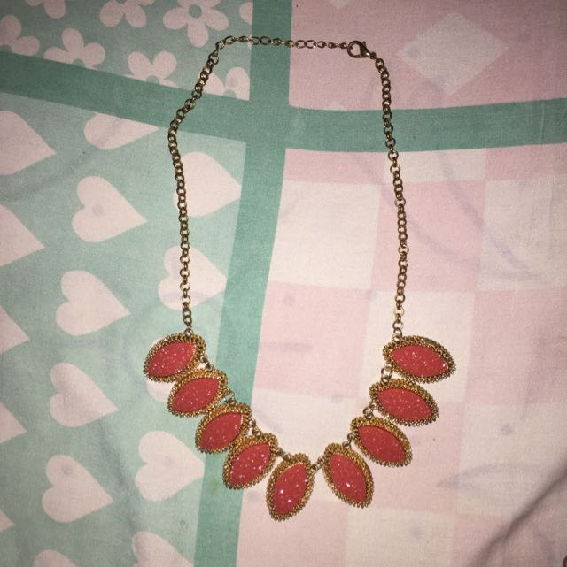 Preloved Red Colorbox Necklace