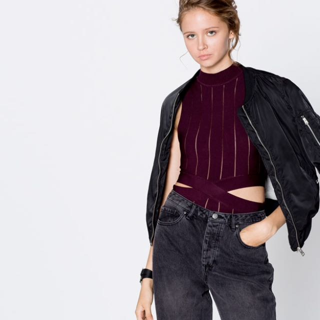 Pull&Bear High Neck Top