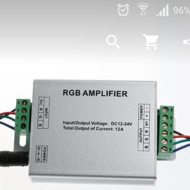RGB AMPLIFIER Controller Signal Amplifier 12-24V 12A For 3528SMD 5050SMD RGB LED Strip Light