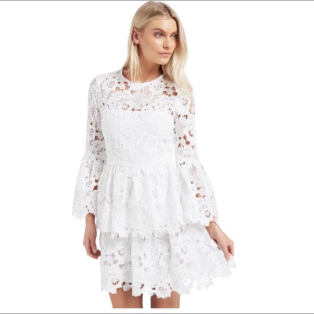 Seed Bell Frill Lace Dress