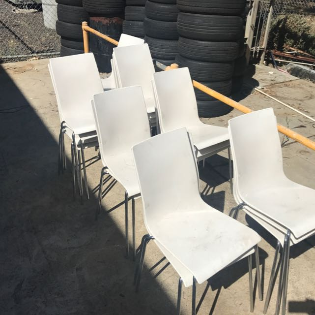 Set Of 21 White Chairs