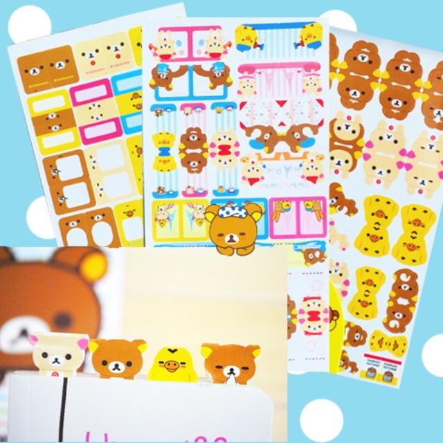 Sticker Rilakkuma Page Marker / Tabs