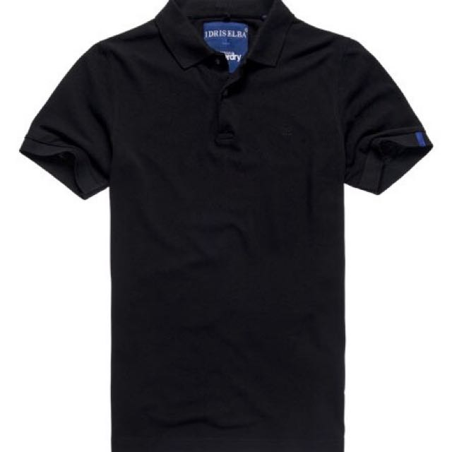 SuperDry IDRIS IE classic polo - black (Large)