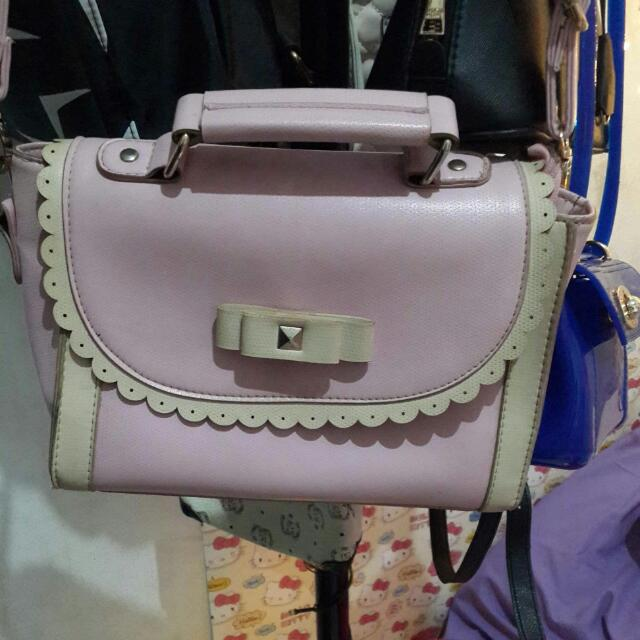 korea pink bag  no barter