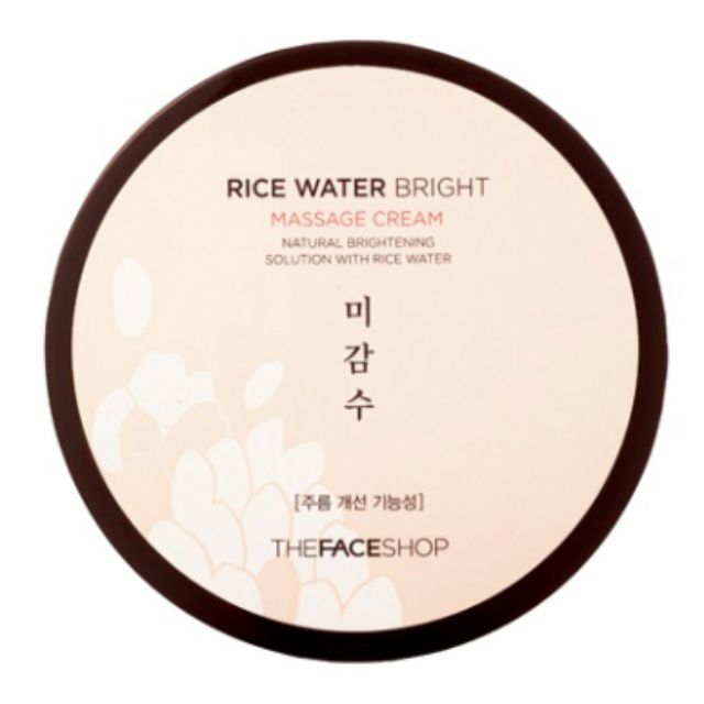 The Face Shop: RICE WATER Massage Cream