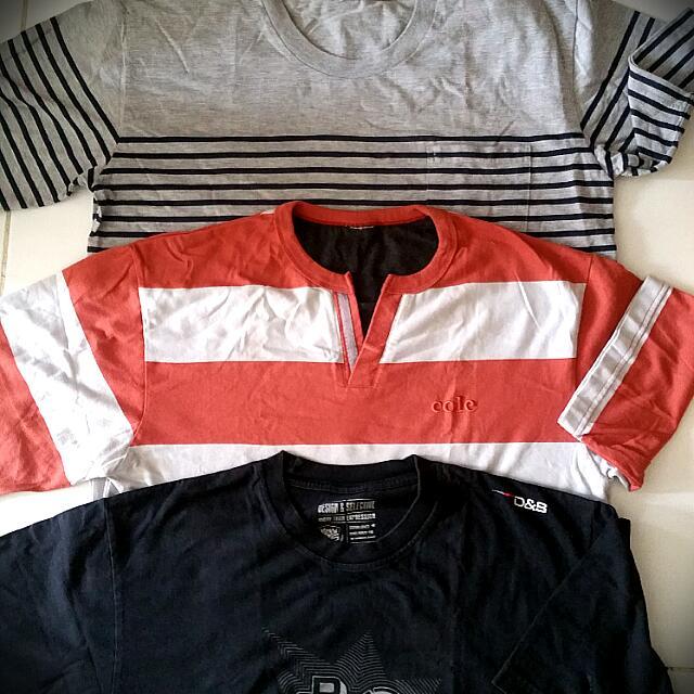 Three Of T -Shirts