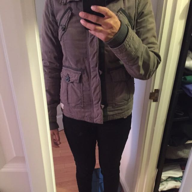 SOLD Aritzia Talula Gray Platoon Jacket NEW Winter Fall