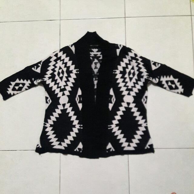 Tribal Jacket Sweater Cardigan Bahan Rajut