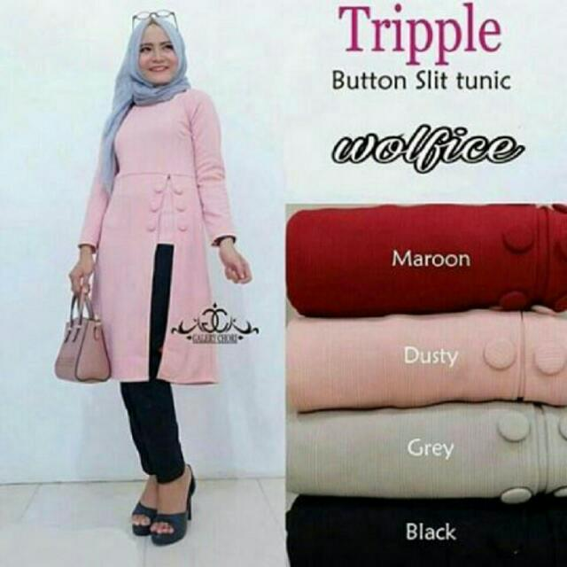 Tripell Button Tunik