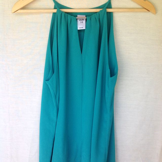 Turquoise Top With Silver Bar