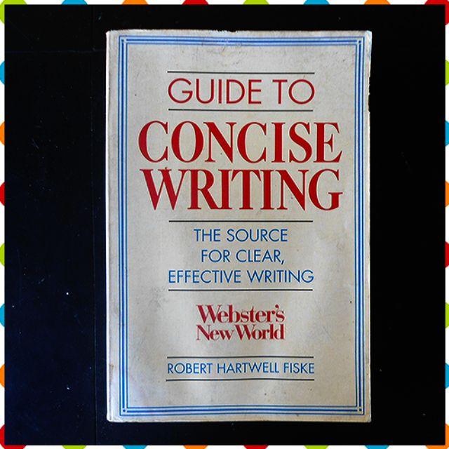Webster's New World Guide to Concise Writing