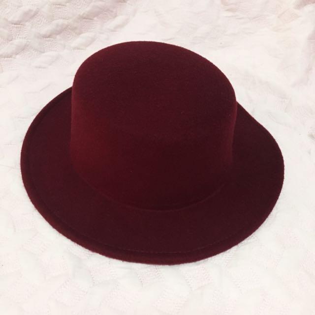 Wine Red Classic Hat