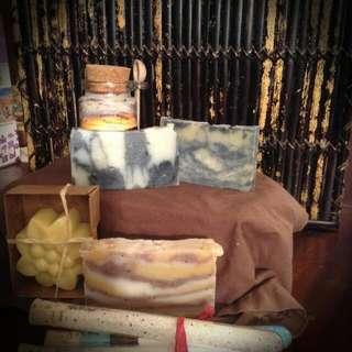 Gift Box Soap Lotion Bath Salts Sugar Scrub