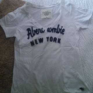 Abercrombie and Fitch White T-shirt