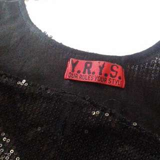 YRYS Little Black Sequined Party Dress