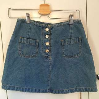 Vintage Denim A-line Skirt