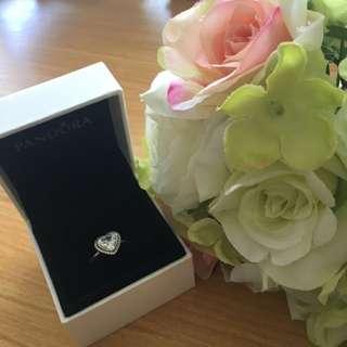 Sparkly Pandora Heart Ring