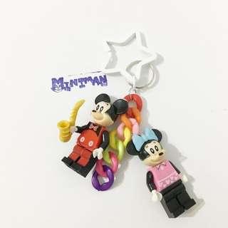 Miniman手作飾品 米奇+米妮雙人偶星星鑰匙圈