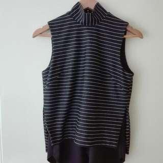 Black/Grey High Neck Shirt