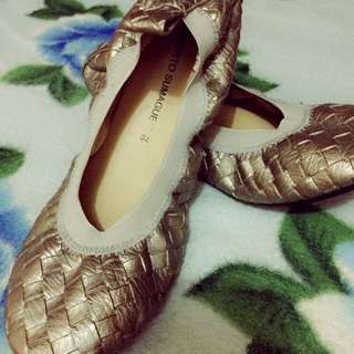 Silver Bronze Doll Shoes