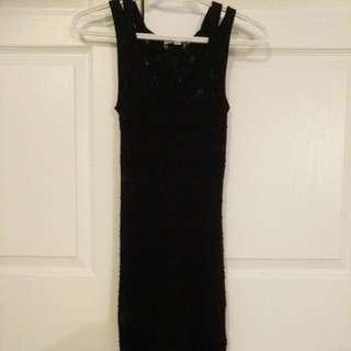 Edgy Little Black Bodycon Dress