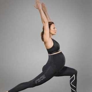 2XU Prenatal Compression Full Length Tights in Black & Silver