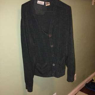 ALL ITEMS ON SALE Medium Green Baggy Cardigan