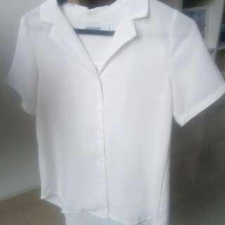 White Blouse / Shirt Size XS - Editor's Market