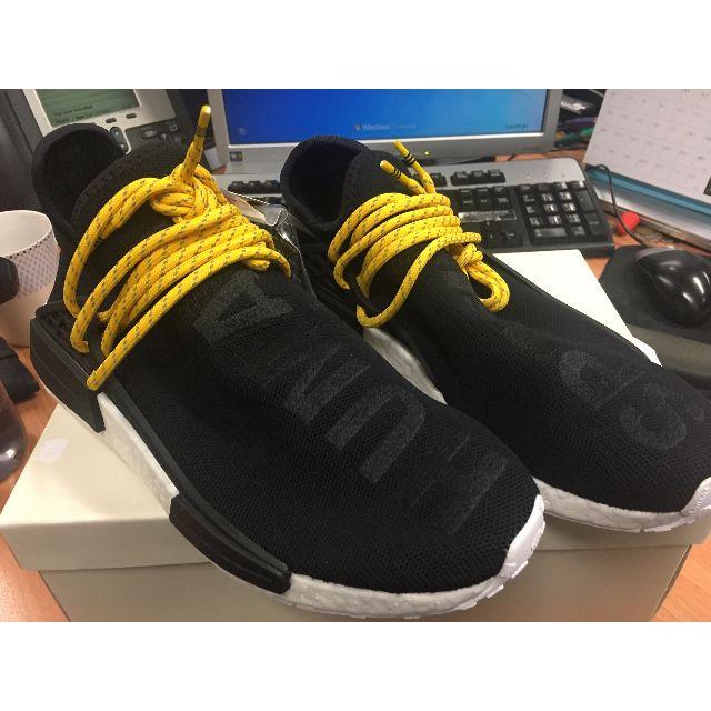 best sneakers 60581 70b8f 100% 全新 Adidas NMD HU x Pharrell Williams Human Race Black BB3068 US8