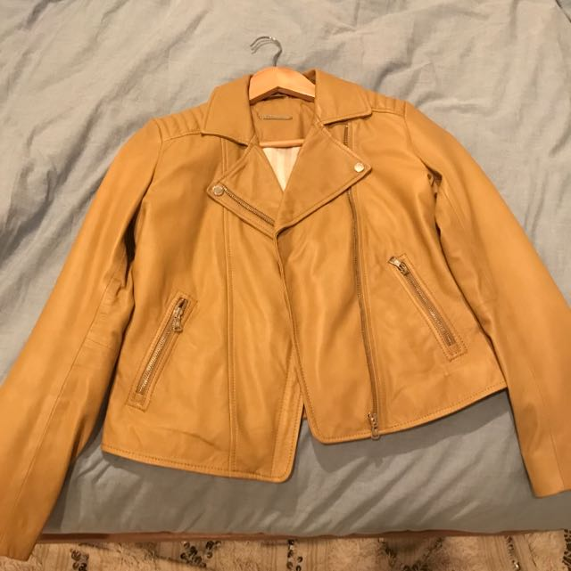 Genuine Leather jacket - Caramel