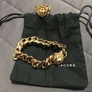 Marc Jacobs Ring And Matching Bracelet
