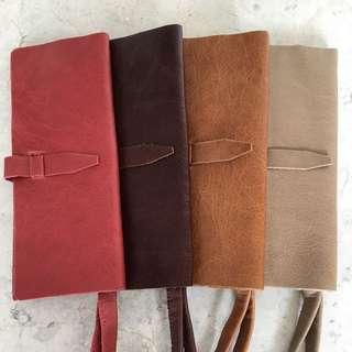 Handmade Italian Leather Wallet With Wristlet