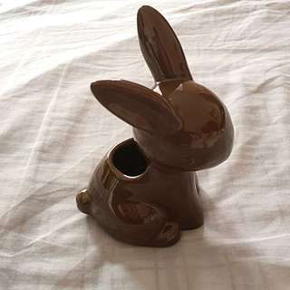Brown Rabbit Pencil Holder