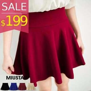(🆕全新轉賣)MiuStar 立體壓紋傘擺鬆緊圓裙