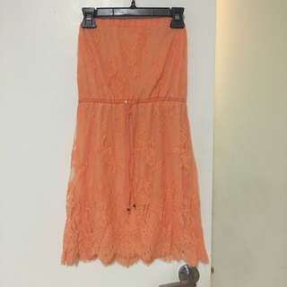 Orange Summer Dress Size Medium