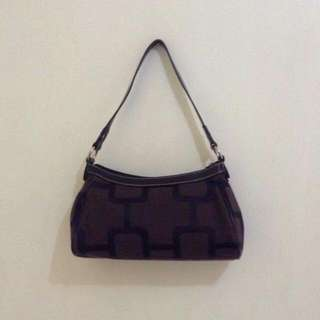 Nine West Hand Bag Dark Brown