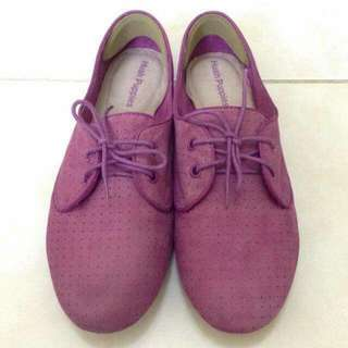 Hush Puppies Shoes Size 9 Suede / Dark Violet