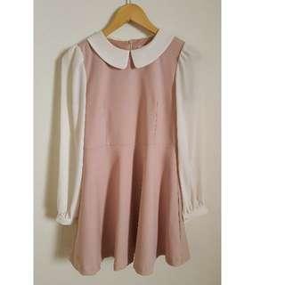 Korean vintage style one piece dress